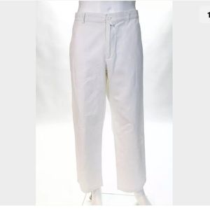 Lacoste Pants - White linen trousers from Lacoste SZ 36